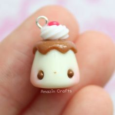 Pudding - Polymer Clay Charms, Polymer Clay Jewelry, Kawaii