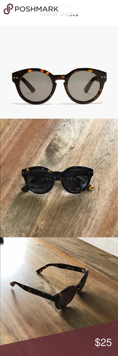 Madewell Hepcat Shades EUC - never been worn. The signature style offers up a whole lot of coolness.   Acetate frame with removable plastic lenses. UV 400 protection. Import. Madewell Accessories Sunglasses