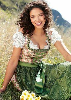 "Unknown  beauty  in  bavarian  "" Dirndl  """
