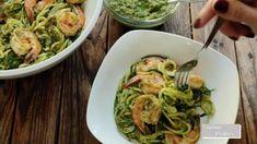 Healthy Sandwich Recipes, Healthy Chicken Recipes, Vegan Recipes, Vegan Zucchini, Zucchini Noodles, Zoodle Recipes, Shrimp Recipes, Pesto Pasta Dishes, Pesto Shrimp