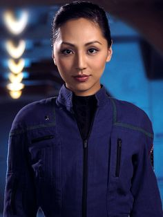 Ensign Hoshi Sato (Linda Park) from Star Trek: Enterprise. Hoshi was the epitome of the adage about courage is being afraid and doing it anyway, and I loved that about her. She didn't get as much character development as she deserved, but everything we did learn about her only made me love her more.