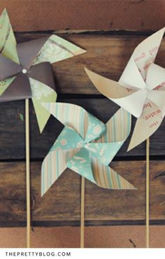 Pretty Paper Windmills – DIY