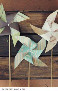 Pretty Paper Windmills – DIY