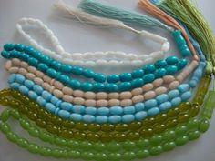 Vintage - Prayer - Worry Beads - Islamic - Gemstone - Mixed Lot of 6 pcs.. $48.00, via Etsy.