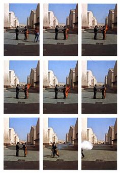 Wish You Were Here album cover. Its interesting to see how that single iconic image was made.