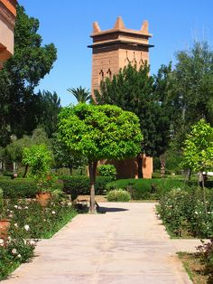 Jardin El Harti, Marrakech Moroccan Design, Moroccan Style, Travel Around The World, Around The Worlds, Desert Life, House Inspirations, Marrakech Morocco, Architecture, Exotic