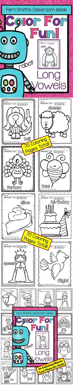 Long Vowel Fun Color For Printable Coloring Pages This Is