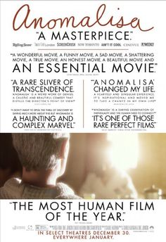 Anomalisa - 2015 - Movie Poster Just Released by Paramount Pictures