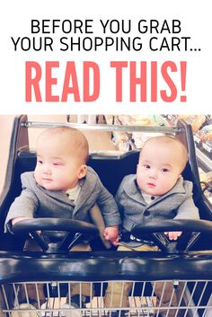 If you are going shopping or shop at all, ever, please read! A mother's plea for an easier shopping trip with babies!