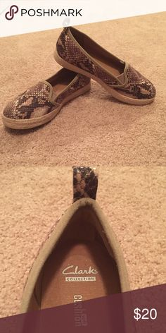 Clark's snakeskin shoe Very comfy casual shoe Clarks Shoes Flats & Loafers