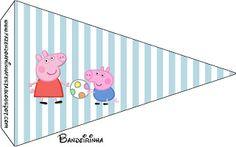 Peppa Pig: tarjetería para imprimir gratis. 14 imprimibles diferentes.