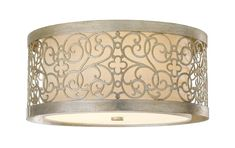 The Arabesque Flush Ceiling Light by Feiss Lighting, partnered with Elstead Lighting, is available from Luxury Lighting. The Feiss Arabesque ceiling light is in a Silver Leaf Patina with an Ivory Linen shade. Semi Flush Ceiling Lights, Flush Mount Lighting, Flush Mount Ceiling, Ceiling Light Fixtures, Ceiling Lighting, Entry Lighting, Cabin Lighting, Lighting Showroom, Ceiling Lamp