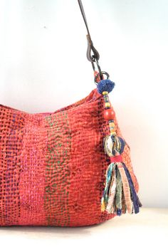 kantha bag kantha quilt bag indian bag shoulder bag by fairlyworn