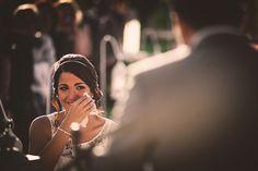 Novia durante el discurso del novio