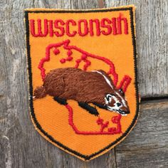 Hey, I found this really awesome Etsy listing at https://www.etsy.com/listing/252566702/wisconsin-vintage-souvenir-travel-patch
