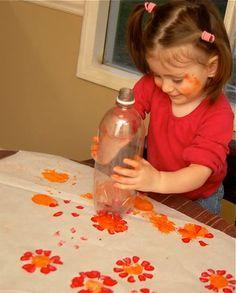 pop bottle flowers