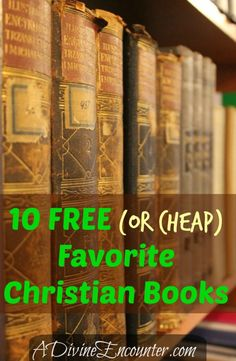 Looking for more growth in your #faith walk? This list of free and cheap #Christian resources, from A Divine Encounter, may be the place to start!