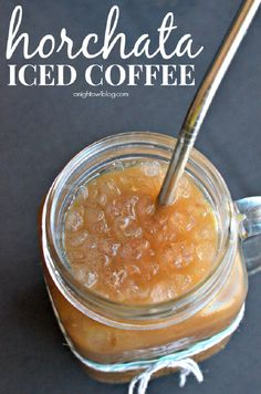 Horchata iced coffee recipe by A Night Owl