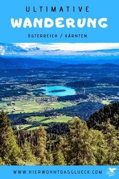 """Der Mallestiger Mittagskogel (slow. Maloško poldne) liegt in den Karawanken an der österreichisch-slowenischen Grenze. Wir haben die anspruchsvolle Tour mit leichtem Klettersteig für euch getestet! Außerdem verraten wir, was ein """"Zwölf-Uhr-Zeigeberg"""" ist. German, Happiness, Mountains, Nature, Travel, Europe Travel Tips, Road Trip Destinations, Deutsch, Naturaleza"""