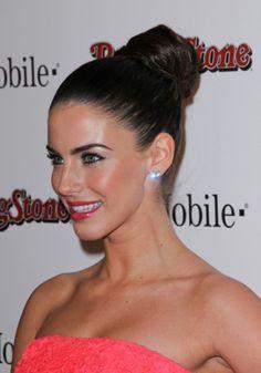 Jessica Lowndes sleek, bun hairstyle and fresh makeup - evening honeymoon hair
