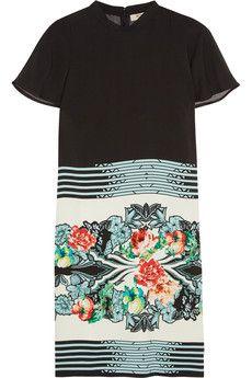 Etro Printed crepe mini dress | NET-A-PORTER