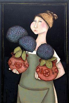 Magali Bucher Medical Illustration, Illustration Art, Primitive Painting, Naive Art, Fantastic Art, Fabric Painting, Beautiful Artwork, Painting Inspiration, Female Art
