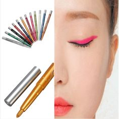 MENOW Brand 12 Colors Eyeliner Pencil Pen Auto-rotate Eyeliner Makeup Set Long Lasting Natural Easy To Wear Eye Cosmetics Kit