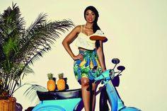 Pretty Fly: South African DJ Poppy for shoe brand Superga Vespa Girl, Scooter Girl, Editorial, Dark Skin Beauty, Italian Shoes, African Diaspora, Gods And Goddesses, Superga, Shoe Brands