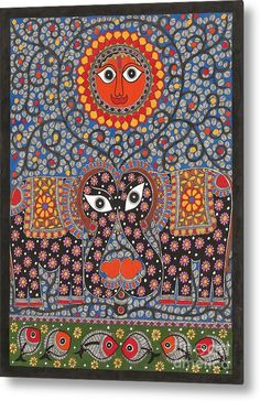 Sun Metal Print by Mithila Crafts. All metal prints are professionally printed, packaged, and shipped within 3 - 4 business days and delivered ready-to-hang on your wall. Choose from multiple sizes and mounting options.