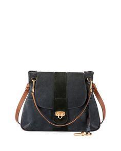 CHLOÉ Lexa Medium Shoulder Bag, Blue. #chloé #bags #shoulder bags #hand bags #