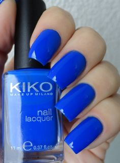 KIKO #336 Electric Blue #kiko #nailpolish #blue