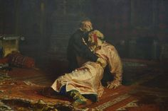 Ivan The Terrible And His Son Ivan by Ilya Repin