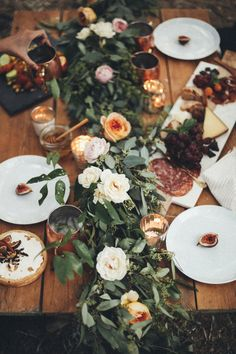 autumn gathering with friends to share beautiful eats