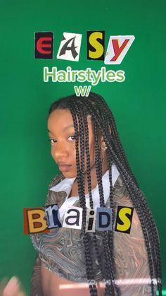 Cute Box Braids Hairstyles, Box Braids Hairstyles For Black Women, Hair Ponytail Styles, Braids Hairstyles Pictures, Dope Hairstyles, Black Girl Braids, African Braids Hairstyles, Braids For Black Hair, Girls Braids