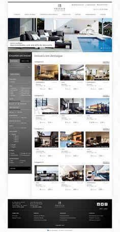 Private Investimentos Imobiliários by Jonatas Lopes, via Behance