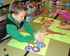 Circle Trees: Kindergarten Integrates math and art