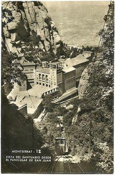 MONTSERRAT - vista del Santuari des del funicular de San Joan - Catalunya.