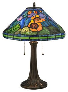 "Tiffany Poppy Cone 23"" H Table Lamp with Empire Shade.             I have this one."