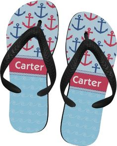 Anchors & Waves Flip Flops - Small