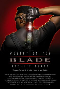 Ahh BLADE, the 1998 Vampire hit that relaunched Wesley Snipes and put comic books adaptations back on the map. Well if you haven't seen the film do yourself the favour as it's really go… Movie List, Movie Tv, Movie Theater, Movies Showing, Movies And Tv Shows, Mejores Thrillers, Best Vampire Movies, Blade Movie, Wesley Snipes