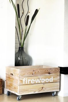 firewood box by AnytHING , fireplace in my home