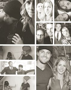Emily Bett Rickards and Stephen Amell