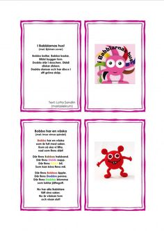 Sångkort-Babblarna Saga, Diy For Kids, Crafts For Kids, Preschool Themes, Toddler Fun, Pre School, Bead Crafts, Kids And Parenting, School Supplies