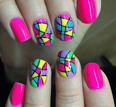 19 simple and elegant manicure ideas – neon nail art Neon Nail Art, Neon Nails, Cute Nail Art, Nail Manicure, Manicure Ideas, Nail Ideas, Toenail Art Designs, Types Of Nail Polish, Finger