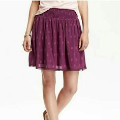 CLOSET SALE | Patterned skirt Smocked waistband  100% cotton Polyester lining Skirts Circle & Skater