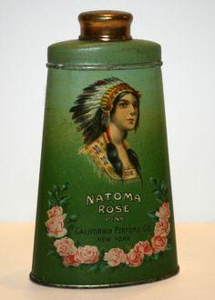 1919 California Perfume Company Natoma Rose Talcum