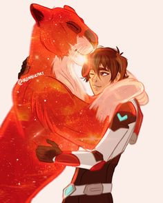 Keith the Red Paladin and his sparkling Red Lion from Voltron Legendary Defender