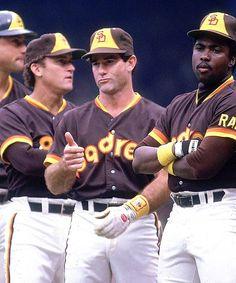 1984 San Diego Padres: Terry Kennedy, Craig Nettles, Steve Garvey and Tony Gwynn. Baseball Star, Baseball Players, Baseball Classic, Baseball Field, San Francisco Giants, Steve Garvey, Mlb Uniforms, Baseball Pictures, San Diego Padres
