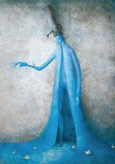 Pinzellades al món: El hombre del agua: un llibre per a celebrar el Dia Mundial de l'Aigua