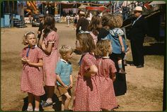 *At the Vermont state fair. Rutland, Vermont, September 1941. Reproduction from color slide. Photo by Jack Delano. Prints and Photographs Division, Library of Congress